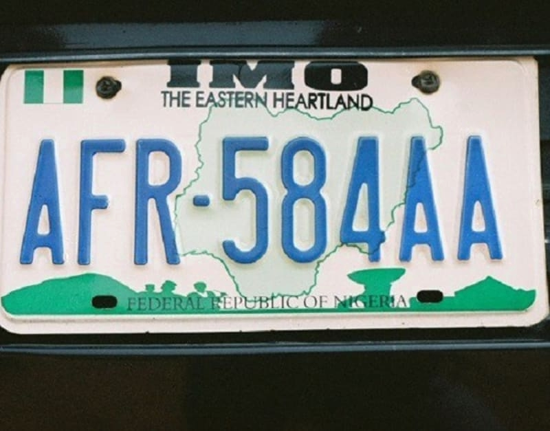 Approved Number Plate Registration Centres In Nigeria